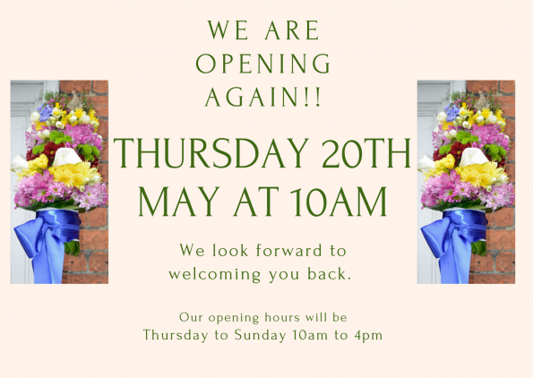 We are opening again!!-May 21